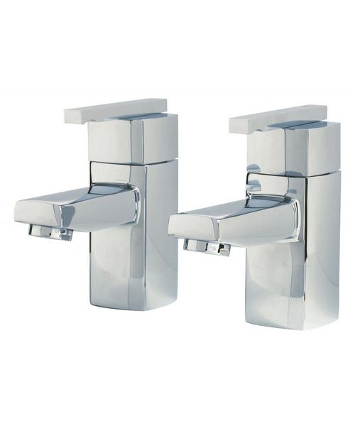 Phoenix SQ Series Pair Of Bath Tap Chrome