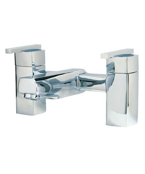 Phoenix SQ Series Deck Mounted Bath Filler Tap Chrome