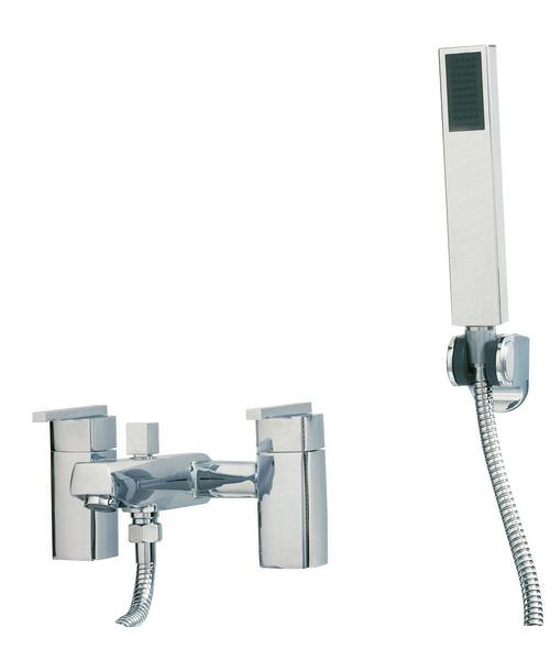Phoenix SQ Series Deck Mounted Bath Shower Mixer Tap With Kit