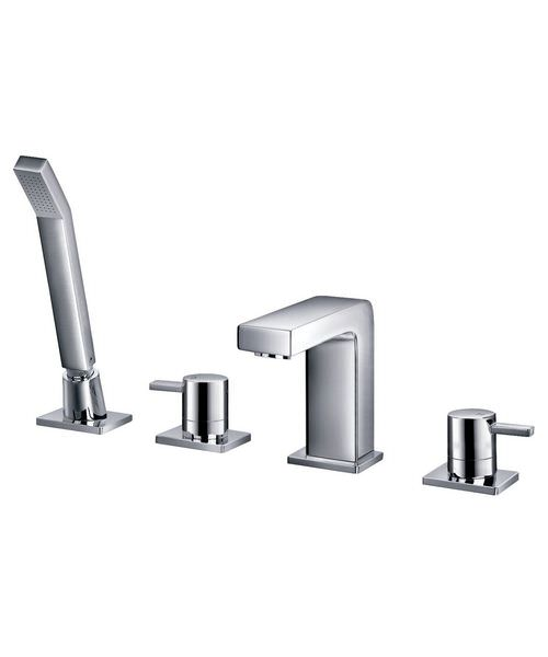 Phoenix EV 4 Hole Deck Mounted Bath Shower Mixer Tap With Kit