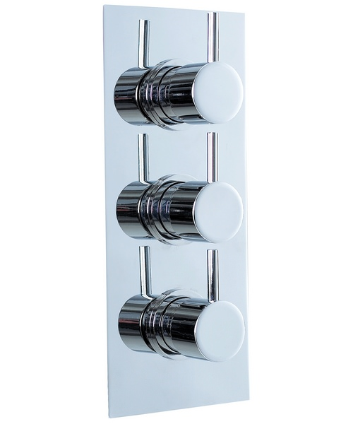 Phoenix Triple Lever Thermostatic Shower Valve With Diverter