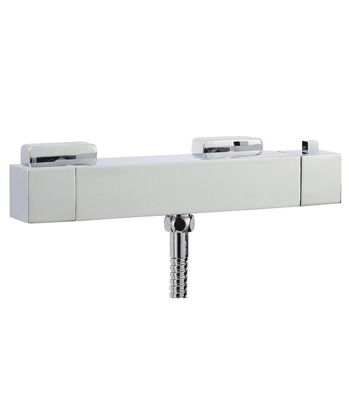 Phoenix Square Exposed Thermostatic Bar Shower Valve Chrome