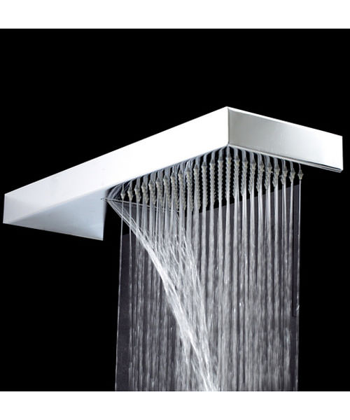 Phoenix Shower Blade 2 With Waterfall 450 x 160mm Chrome
