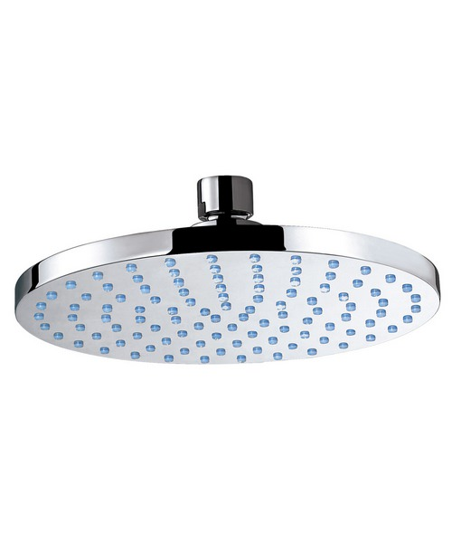 Phoenix Design Round Shower Head 180mm With Swivel Elbow Chrome
