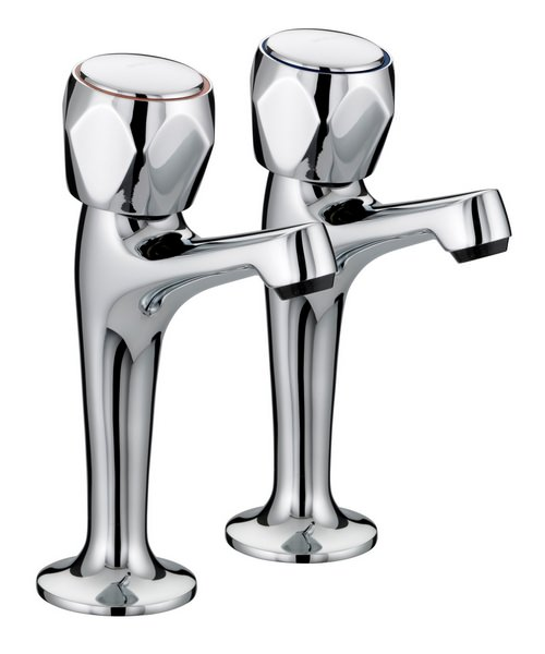 Bristan Value Club Chrome High Neck Kitchen Pillar Taps