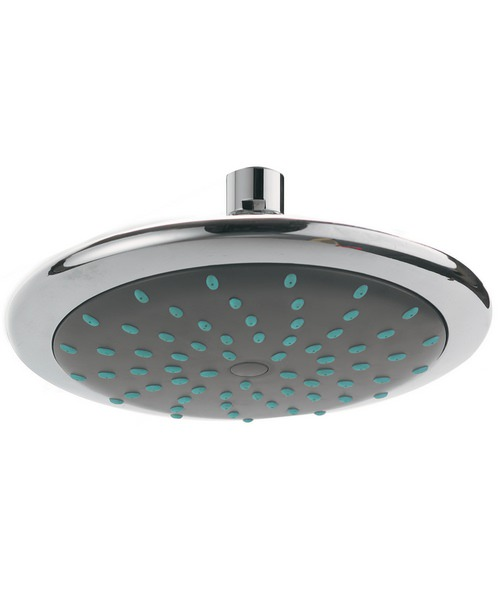 Phoenix 200mm Contemporary Shower Head With Swivel Elbow Chrome