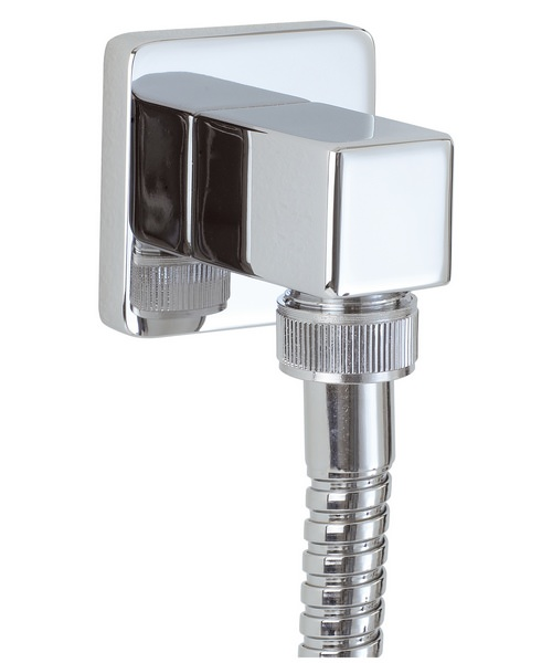 Phoenix Square Shower Outlet Elbow Chrome