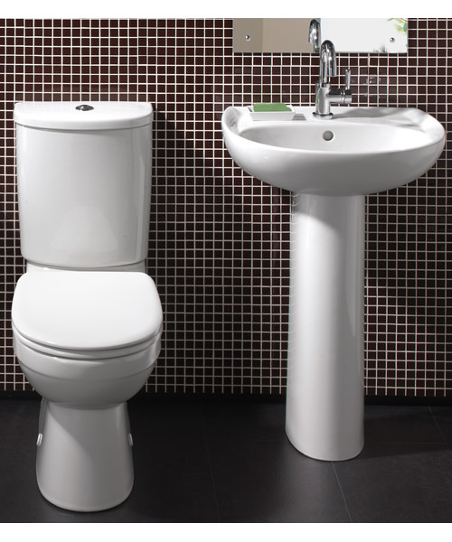 Twyford Galerie White Cloakroom Suite