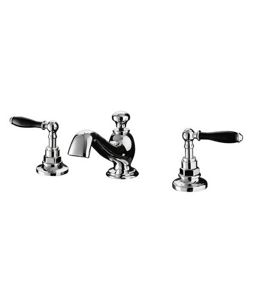 Imperial Notte 3 Hole Basin Mixer Tap