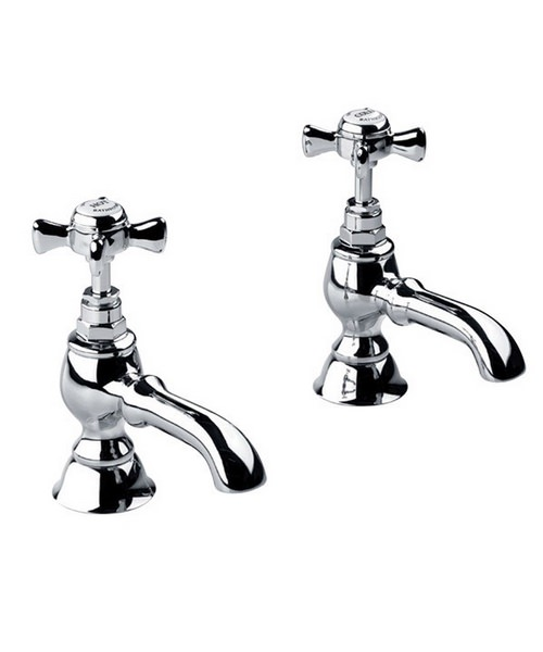 Imperial Edwardian Three-Fourth Inch Bath Pillar Taps Chrome