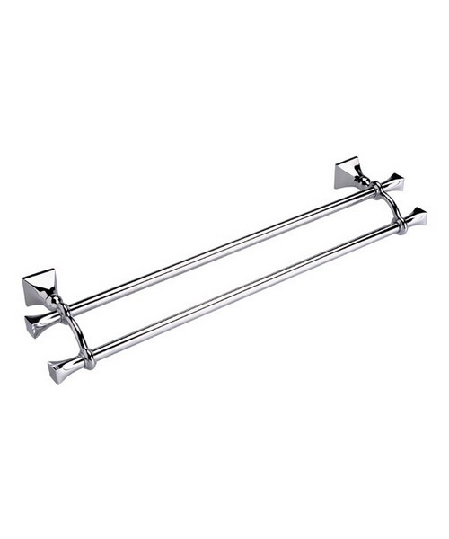 Imperial Highgate Wall Mounted Double Towel Rail 600mm