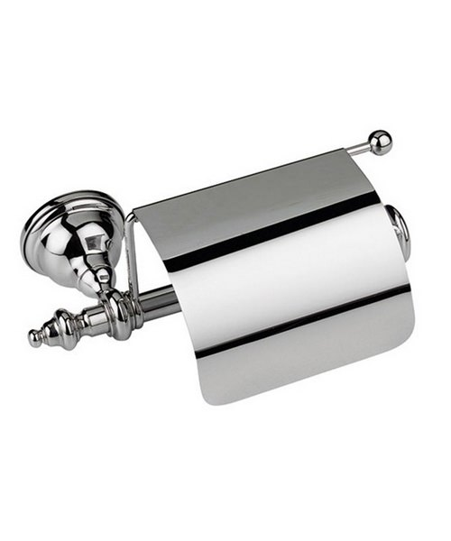 Imperial Avignon Wall Mounted Covered Toilet Roll Holder Chrome