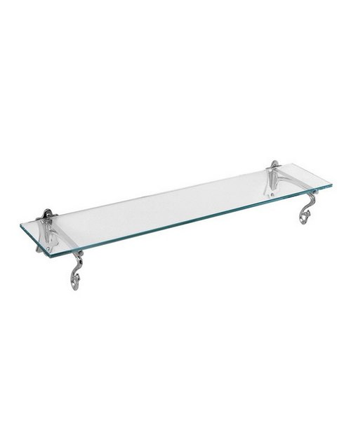 Imperial York Chrome Glass Shelf 550mm