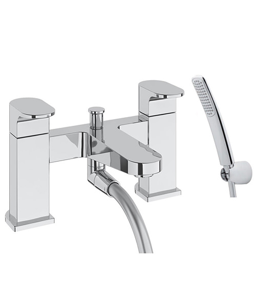Deva Lush Deck Mounted Bath Shower Mixer Tap With Kit Chrome
