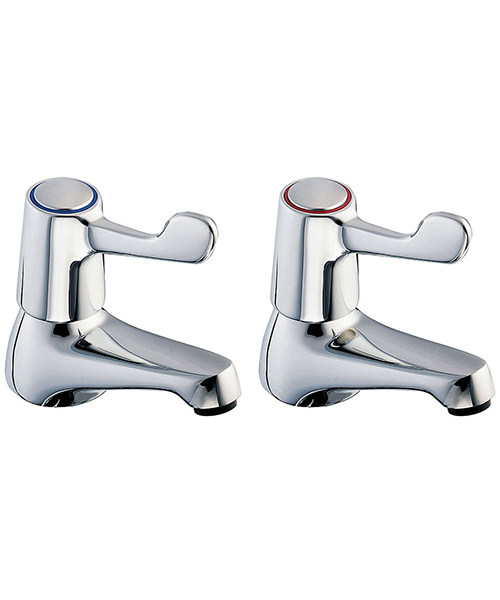 Deva Lever Action Basin Taps With Metal Backnut