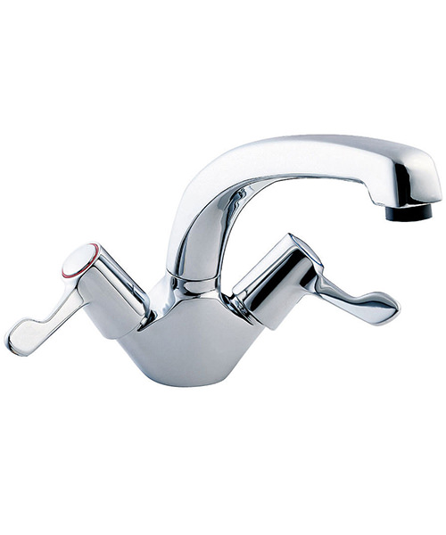 Deva Lever Action Mono Sink Mixer Tap With 3 Inch Lever