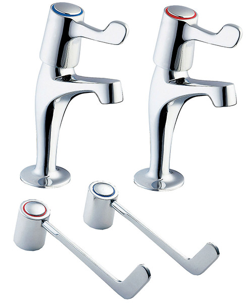 Deva Lever Action Sink Taps With 6 Inch Lever