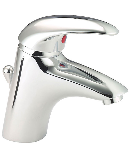 Deva Elan Enviro-Klick Mono Basin Mixer Tap With Press Top Waste
