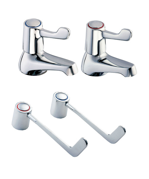 Deva Lever Action Bath Taps With 6 Inch Lever