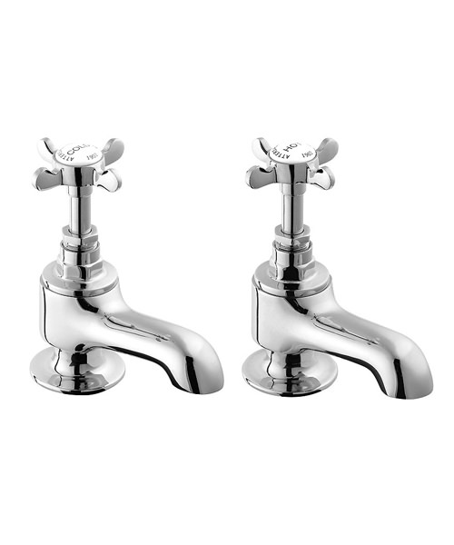 Deva Coronation Pair Of Bath Tap Chrome