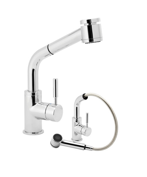Deva Vision Kitchen Sink Mixer Tap With Pull Out Rinser