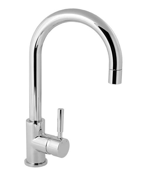 Deva Vision Mono Kitchen Sink Mixer Tap With Arch Spout