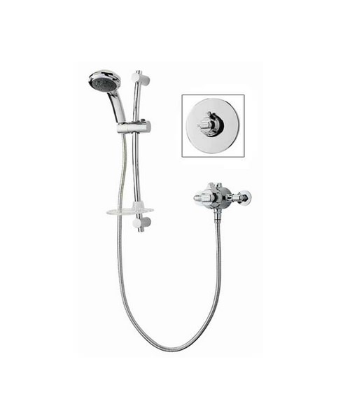 Triton Unichrome Dart Eco Thermostatic Mixer Shower And Kit