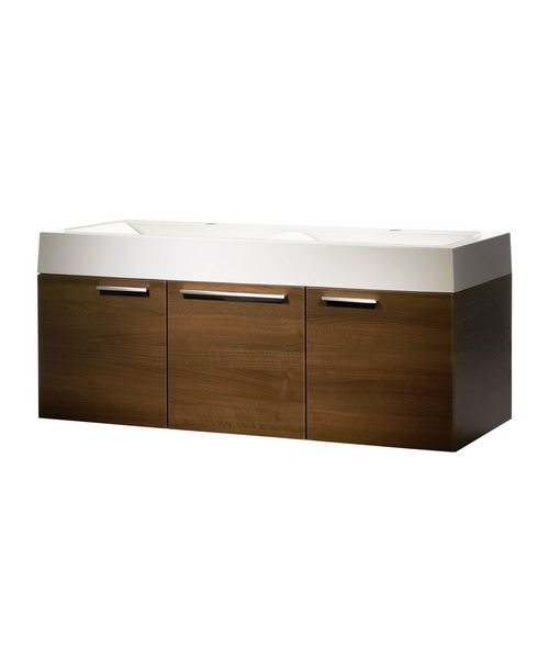 Roper Rhodes Envy 1200mm Walnut Finished Wall Mounted Washstation
