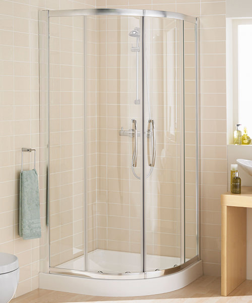 Lakes Classic Single Rail Quadrant Shower Enclosure 800 x 800mm Silver