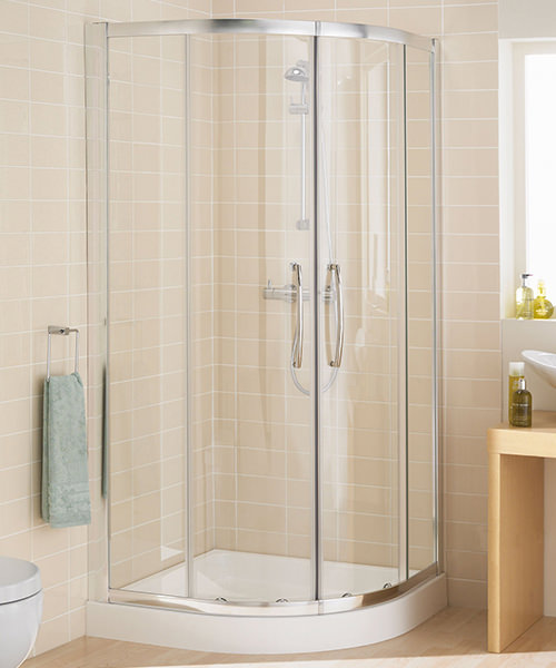 Lakes Classic Semi Frameless Quadrant Plus Shower Enclosure 1000mm Silver