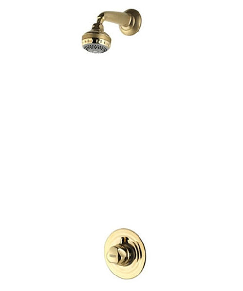 Aqualisa Aquavalve 700 Concealed Valve With Varispray Fixed Head - Gold