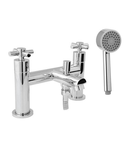 Deva Motif Deck Mounted Bath Shower Mixer Tap With Kit Chrome