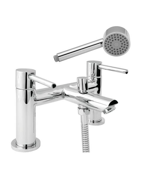 Deva Insignia Deck Mounted Bath Shower Mixer Tap With Kit Chrome