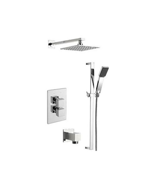 Tre Mercati Geysir Thermostatic Shower Valve With Slide Rail And Head