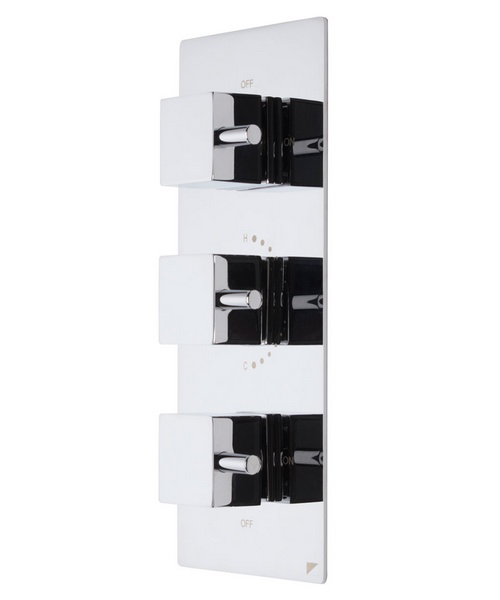 Roper Rhodes Event Square Triple Control Shower Valve