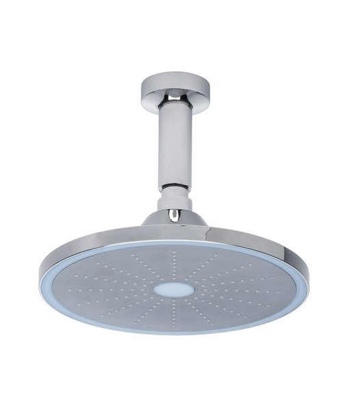 Roper Rhodes Round 220mm LED Shower Head With Arm