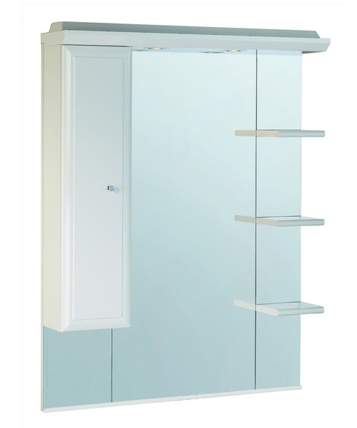 Valencia 800mm Mirror With Shelves Cupboard And Canopy