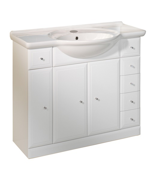 Roper Rhodes Valencia 1000mm White Freestanding Basin Unit