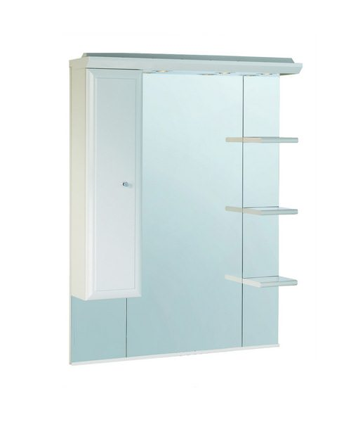 Valencia 1000mm Mirror With Shelves Cupboard And Canopy