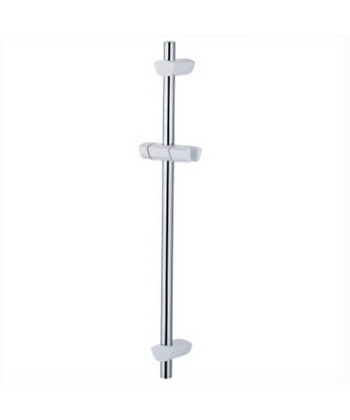 Bristan Evo Adjustable Shower Riser Rail White And Chrome