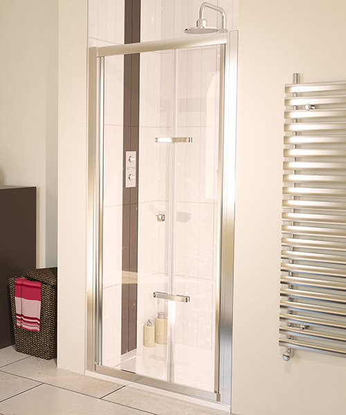 Aqualux Aqua 6 Bi-Fold Shower Door 900mm Polished Silver