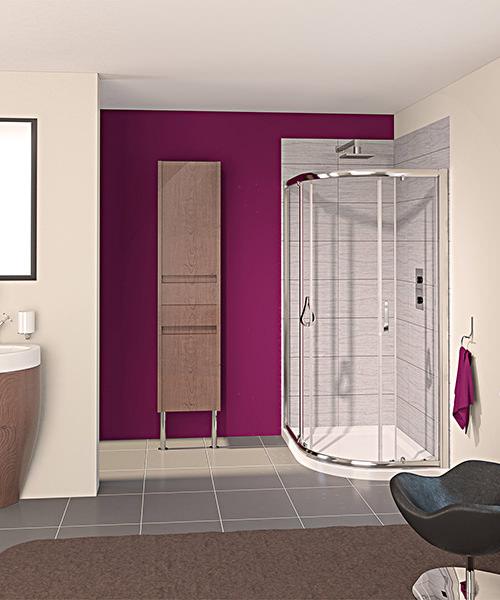Aqualux Aqua 6 Off-Set Quadrant Shower Enclosure 1200 x 900mm
