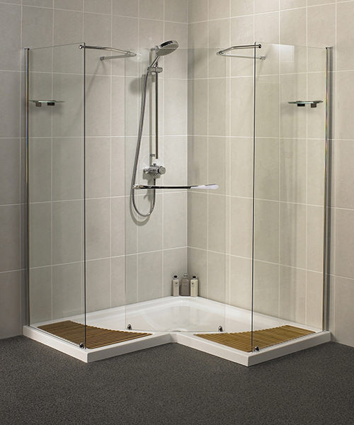 Aqualux Aquaspace Corner Walk-Through Shower Enclosure 1500mm
