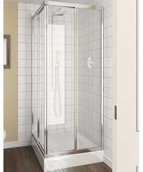 Aqualux Aqua 4 760-800mm Clear Glass Telescopic Corner Entry Enclosure