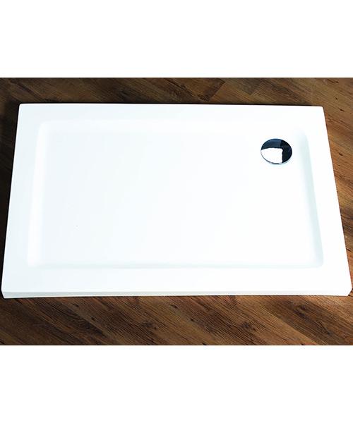 Aqualux Aqua 55 Rectangle Shower Tray 1200mm x 900mm White