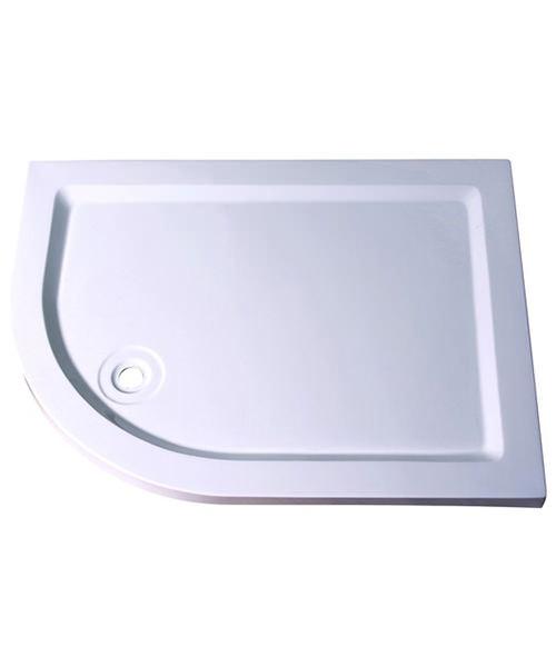 Aqualux Aqua 55 Off-Set Quadrant Shower Tray 1200mm x 900mm LH
