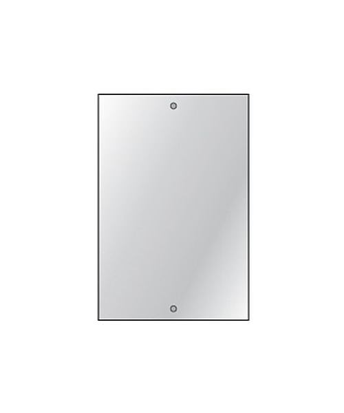 Alternate image of HIB Drilled Bathroom Mirror 4mm Float Glass 250 x 350mm - 6 Per Pack