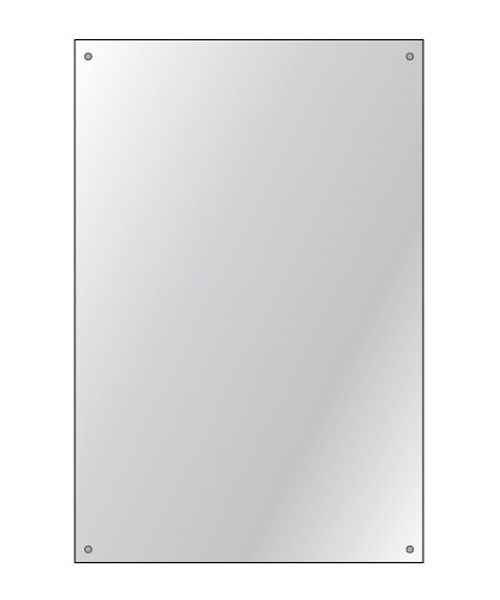 Additional image of HIB Drilled Bathroom Mirror 4mm Float Glass 250 x 350mm - 6 Per Pack