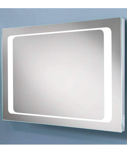 HIB Axis Steam Free LED Back-Lit Mirror With Shaver Socket 800 x 600mm