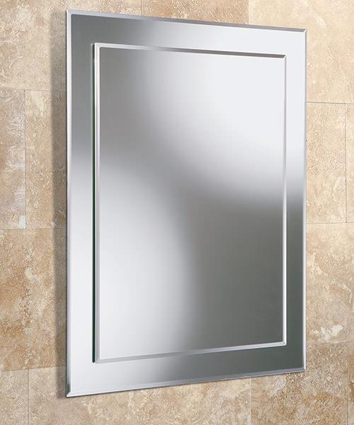HIB Emma Rectangular Mirror On Mirror 400 x 500mm